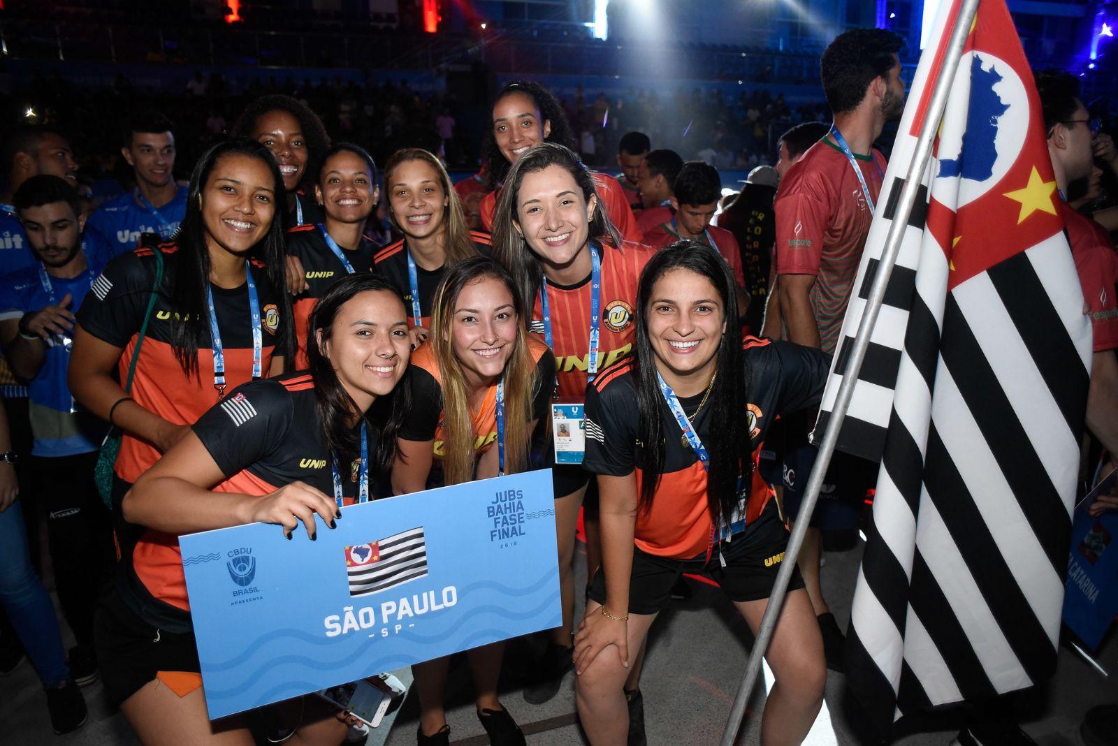 Abertura do JUBs - delegação de São Paulo